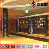 La décoration intérieure Ideabond colonne Finition miroir d'or panneau composite (AE-202)