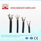кабель резиновый оболочки 3core электрический для машины