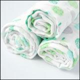 El bebé suave orgánico modificado para requisitos particulares hermoso de la gasa del algodón del diseño Swaddle la manta