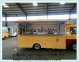 Gasolina BBQ Buffet coche con cocina móvil Horno para pizzas interior