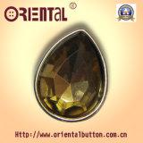 con Shiny Gold Color Fashion Acrylic Button (C-357PG)