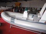 고아한 팽창식 어선, 작은 싼 중국제 늑골 배, 세륨 Cert를 가진 선외 발동기 배, PVC 또는 Hypalon Rib470A. 판매를 위해
