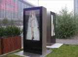 affissione a cristalli liquidi Outdoor Advertizing Kiosk di 72inch Floor Standing