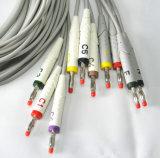 Cabo das ligações ECG de Schiller 10, tipo da banana do cabo de EKG