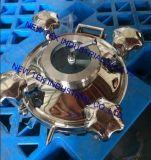 Botola rotonda sanitaria di pressione con vetro