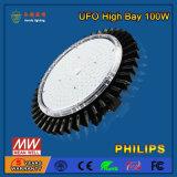 Luz de la bahía del UFO del vatio LED de SMD2835 LED 100 alta