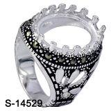 Anello dell'argento sterlina dell'anello 925 degli uomini senza pietra concentrare