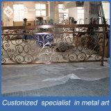 Fabrication d'usines 304 # Acier inoxydable sculpté Bronze Railing / Balustrade