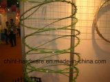 電流を通されるの有刺鉄線(低価格)およびPVC塗られる