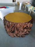 白いカラー結婚披露宴のための贅沢なテーブル掛けは使用した(CGTC1714)