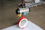 압축 공기를 넣은 PTFE 안대기 나비 벨브 (D61X-10/16)