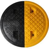 反射の黄色および黒い交通安全のゴム製減速バンプ