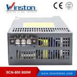 800W Scn-800 48V 단 하나 산출 병렬 전력 공급 SMPS는 조정한다