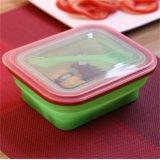 Cofre de microondas caixa de almoço Silicone Foldable Foodbox