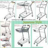 일본 두 바구니 Bianjiexing 장바구니 쇼핑 트롤리