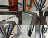 Doppelte Glaspatio-Falz-Aluminiumtür mit Bildschirm