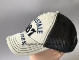 sombrero de béisbol lavado manera 100%Cotton con la aplicación Emb en la tela del panel de delante y de acoplamiento en la parte posterior (LY046)