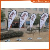 Outdoor Advertizing Fiberglass Pole Feather Polyester Flag Teardrop Flag