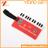 Custom Soft PVC Travel Luggage Tag / Wholesale Custom Fancy Airplane Shape Etiqueta de bagagem em branco com Rubber Loop