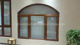 Marco de madera maciza de lujo Ventana de vidrio / ventana de madera / madera de alerce Ventana