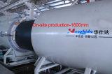Ligne en plastique d'extrusion de pipe d'approvisionnement en eau de HDPE d'extrudeuse