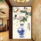 A pintura chinesa impressa Digitas da flor & do vaso para a decoração do Vestibule