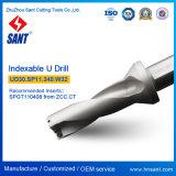 Recubrimiento de níquel u perforar Herramientas de perforación indexables Ud30 con inserto de carburo Spgt110408 Spmg110408