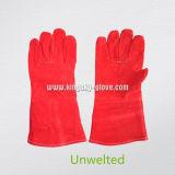 Red Cow gant de travail de soudage fractionné (6502. RD)