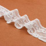 Merletto bianco bianco e grezzo di vendita calda del tessuto