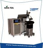 Molde automático que repara la máquina de la soldadura por puntos de laser de la fibra de la batería del metal