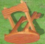 정원 가구 옥외 접는 의자 나무로 되는 발판