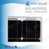 Monocrystalline полупроводниковых материалов 100 Вт дешевая солнечная панель
