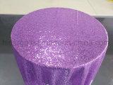 紫色カラー最高のホテル党(CGCT1712)で使用される輝いたテーブルクロス
