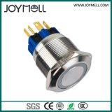 Bouton poussoir électrique en métal 2no 2nc de qualité de la CE