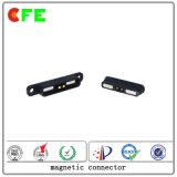 Conector magnético fêmea e masculino de 2 pinos para amplificador de áudio