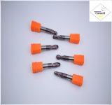 鋼鉄CNCの機械化の部品&#160のためのCutoutil HRC55 TialnのコーティングR0.5*2*4D*50L*2f/4f; 球の鼻の端製造所