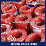 Прозрачный провод зеленого цвета изолированный PVC