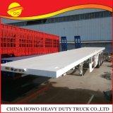 La fábrica China de superficie plana de 3 ejes Remolque, contenedor de la plataforma 40pies Semi nuevo tráiler Precio