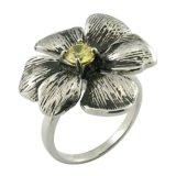 2015 items superventas que echan el anillo de acero de la flor de Stainess de la joyería