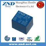 3FF (T73) 7A 24V 5pins Relais électromagnétique Miniature Power Blue Cover Relay