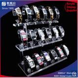 Présentoir acrylique de lucite de poche d'étalage de support multicouche neuf de montre