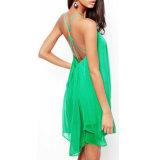 Form-Frauen-reizvolles Backless Partei-Sommer-Strand-Beleg-Kleid