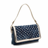 Luxuxartrhinestones-Denim-Dame Crossbody Bag (MBNO040026)
