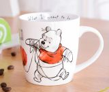 Tazza di caffè di ceramica su ordinazione all'ingrosso delle tazze di tè della tazza del nero della tazza