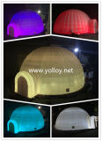 De opblaasbare Aantrekkelijke LEIDENE Tent van de Koepel met Licht