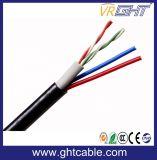 Cable de LAN del cable 2pair de la alarma de la seguridad más el cable de transmisión