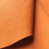 Couro do plutônio de Microfiber para fazer a mobília Hw-235 do sofá
