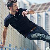 Nuova camicia di polo di modo per le magliette degli uomini, camicia 100% di polo casuale personalizzata alta qualità del cotone