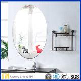 ovale Spiegel van het Glas van de Vlotter van 2mm - van 6mm de Zilveren Met een laag bedekte met Opgepoetste Rand voor de Spiegel van de Badkamers of de Decoratieve Spiegels van de Muur