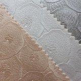 Design floral synthétique PVC en cuir pour rembourrage mural